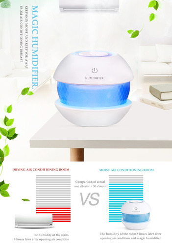 humidificador difusor aromaterapia 8 luces ultrasonico