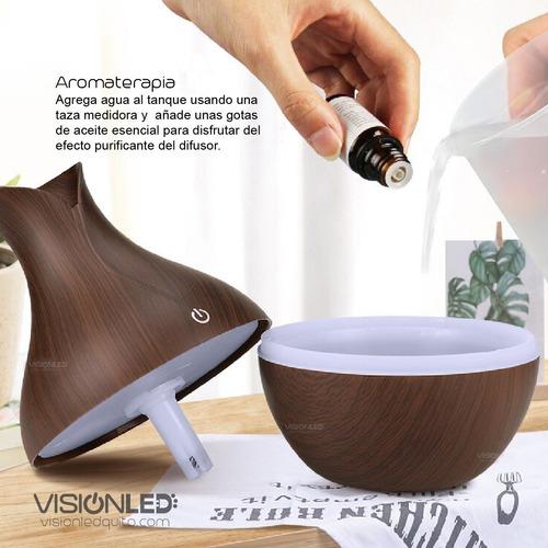 humidificador difusor de aroma madera varios modelos
