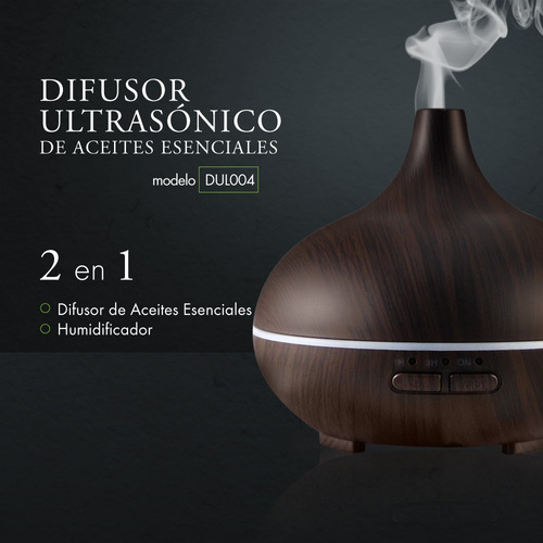 humidificador difusor de aromas 150ml + aceite gratis