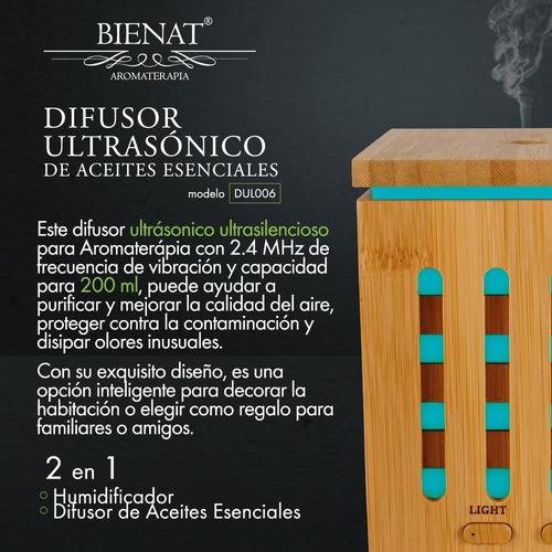 humidificador difusor de aromas 200ml + aceite esencial