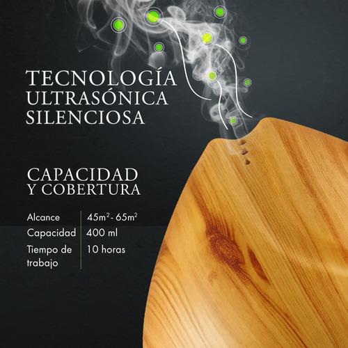 humidificador difusor de aromas 400ml mc + aceite esencial