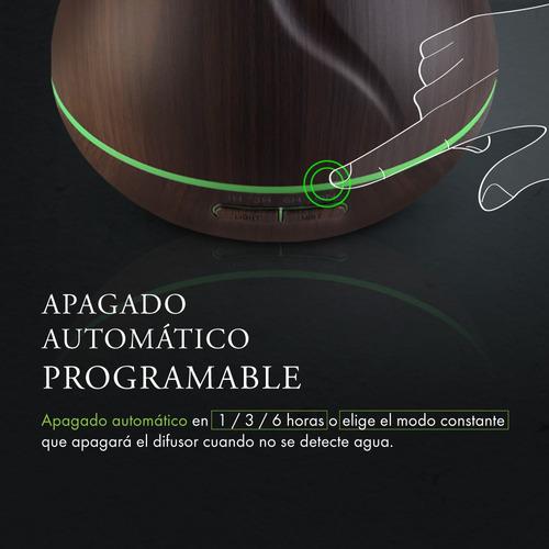 humidificador difusor de aromas 400ml mo + aceite esencial