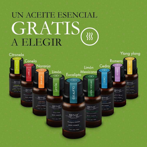 humidificador difusor de aromas + aceite esencial