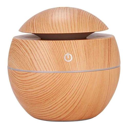humidificador difusor de aromas redondo de madera