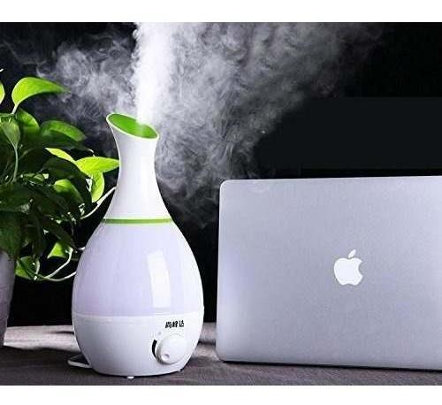 humidificador difusor purificador aire ambiente florero led