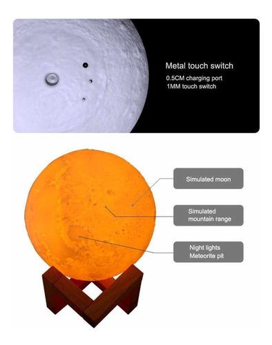 humidificador forma de luna lampara led difusor aromaterapia