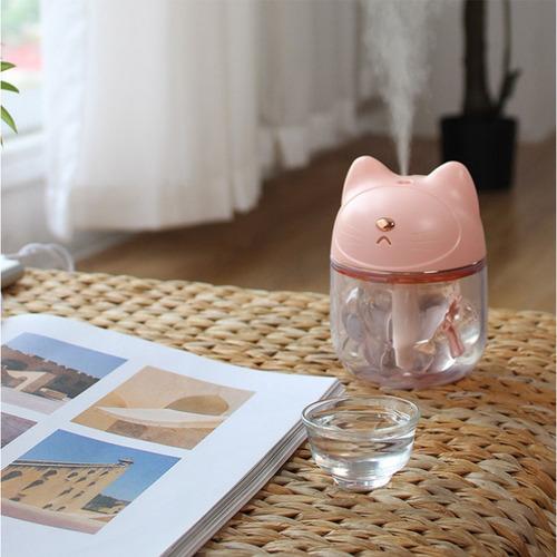 humidificador led purificador de aire ultrasónico rosa