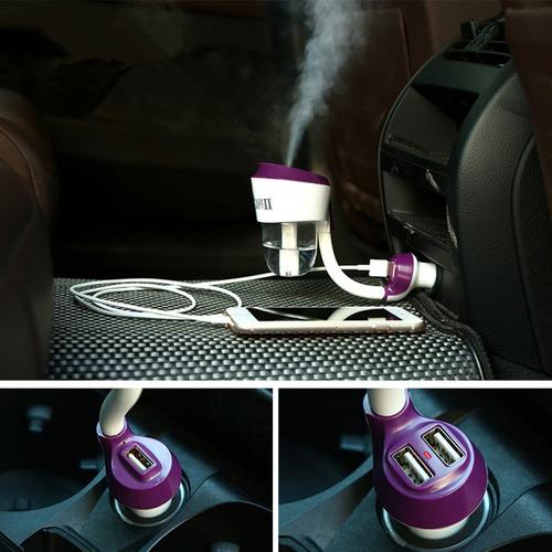 humidificador purificador auto carrro con cargador usb