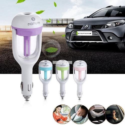 humidificador purificador de aire y aromatizador para autos