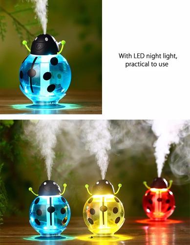 humidificador ultrasonico de aire difusor aromas con luz led