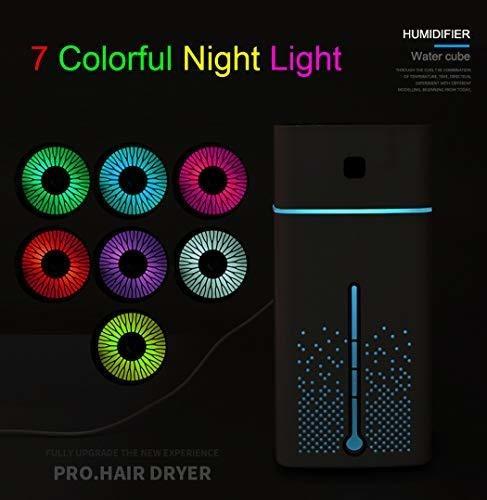 humidificador ultrasonico usb grande con luz nocturna difuso