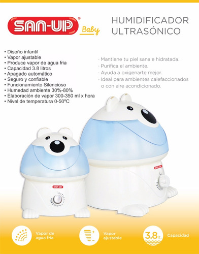 humidificador ultrasonico vaporiza san up 2008 mundo manias