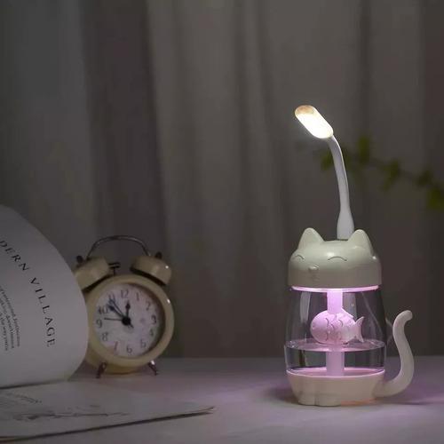 humidificador vaporizador de gato ventilador lampara 350ml
