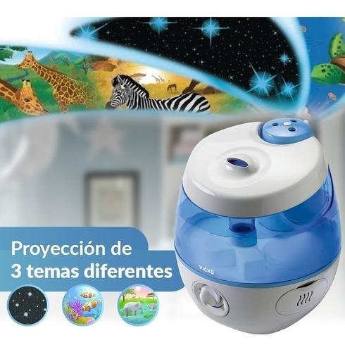 humidificador vick vul575ar dulces sueños con proyector 3.8l