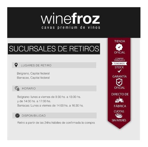 humidor winefroz para habanos cigarros+caja fuerte-cuotas