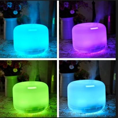 humificador difusor de aromas 500ml, lámpara con luz led
