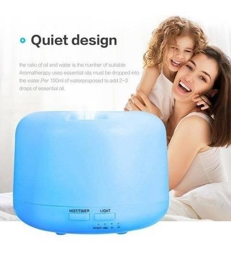 humificador difusor de aromas + esencia con luz led colores