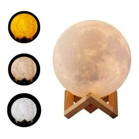 Humificador Difusor Luna Aroma 3 Toques Led Lampara