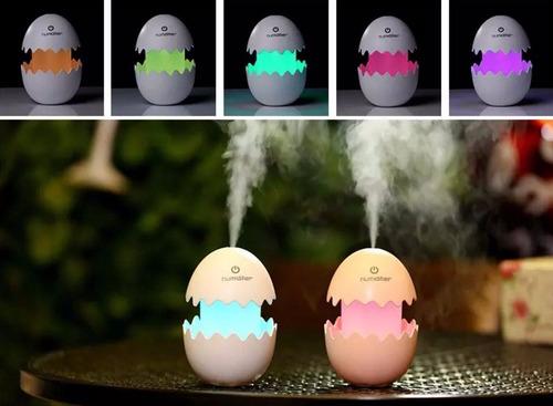 humificador huevo vaporizador cambia de color aromaterapia