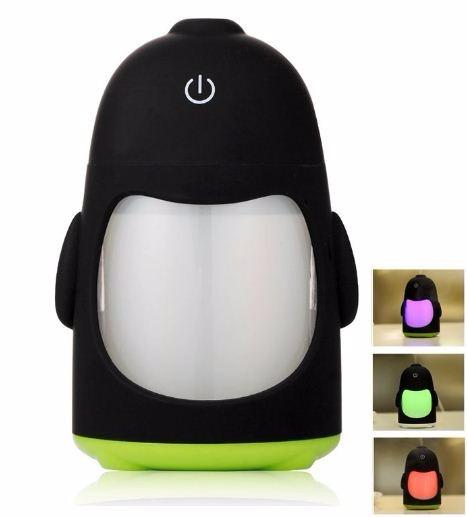 Humificador Pinguino Vaporizador Cambia D Color Aromaterapia ...