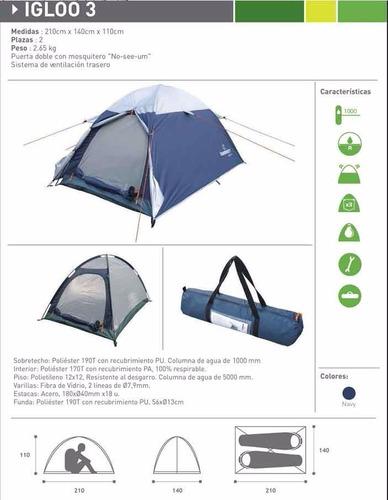 hummer camping personas carpa iglu