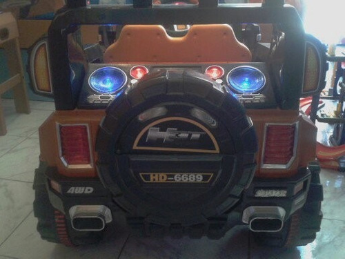 hummer electrica bateria recargabl montable luces sonido mp3
