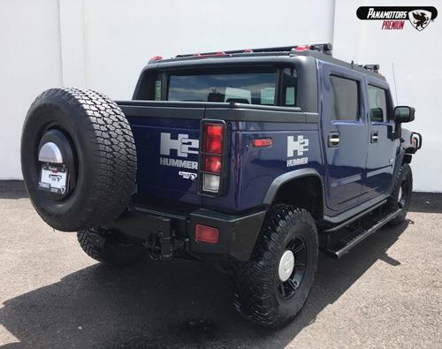 hummer h2 adventure (pick up) piel azul 2007