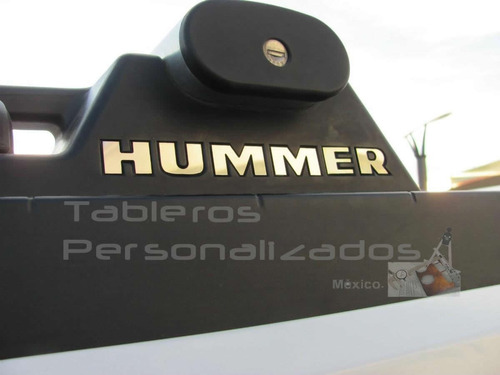 hummer h2 suv-sut 2003 2009 logo rack techo acero inoxidable