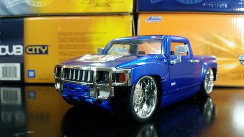 hummer h3 2003 coleccion jada toys escala 1/24 25 vdes
