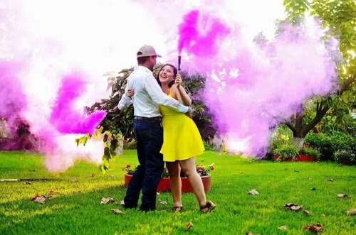 humo de colores bengalas bombas fotografia granadas