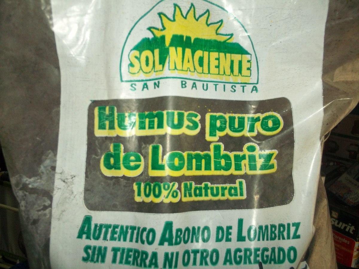 humus de lombriz abono natural para plantas litros