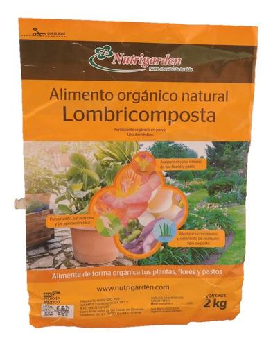 humus de lombriz, abono orgánico bolsa de 2kg