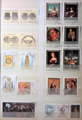 hungría, lote 100 sellos tema arte diferentes usados l14053