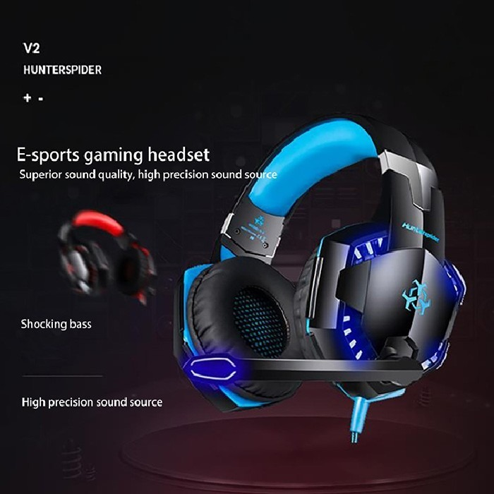 Hunterspider V2 (rojo) Con Cable De 3,5 Mm Gaming Headset Co