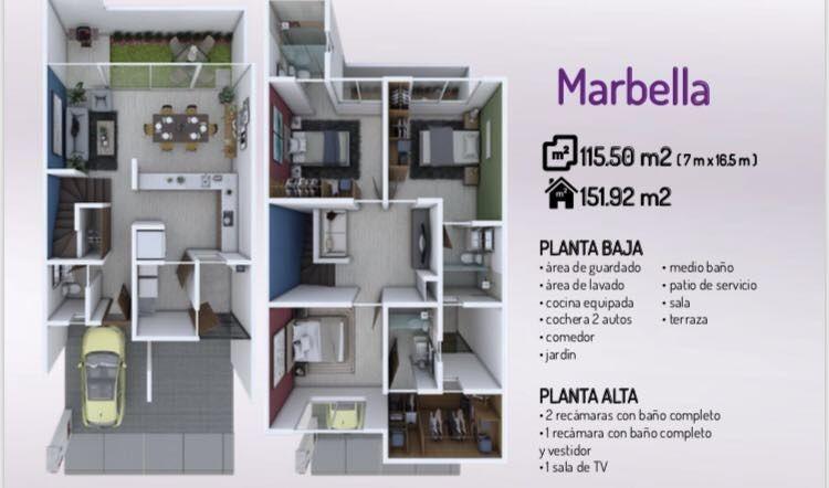 hurban vende casa de dos pisos, en coto, al sur.