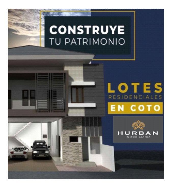 hurban vende lotes residenciales al sur, en preventa.