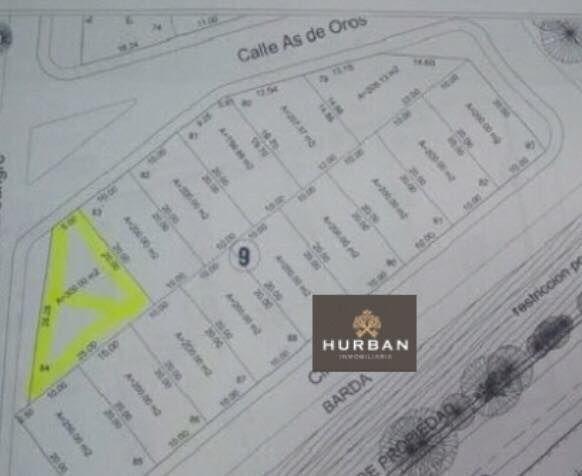 hurban vende terreno en esquina en coto al norte