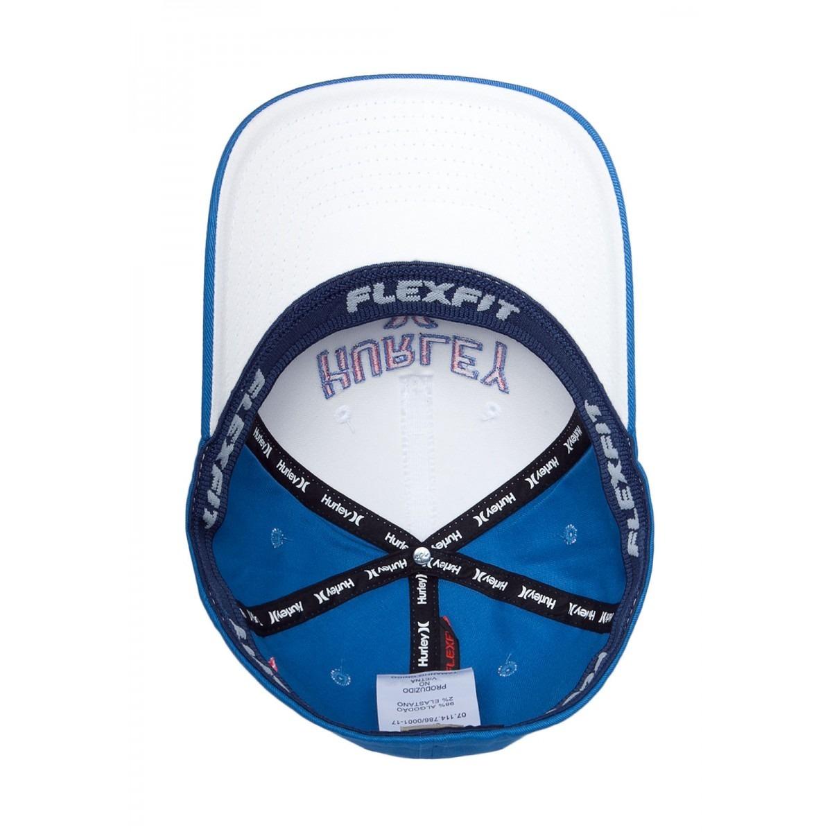 Carregando zoom... boné hurley logo azul e branco masculino original b37db141c02