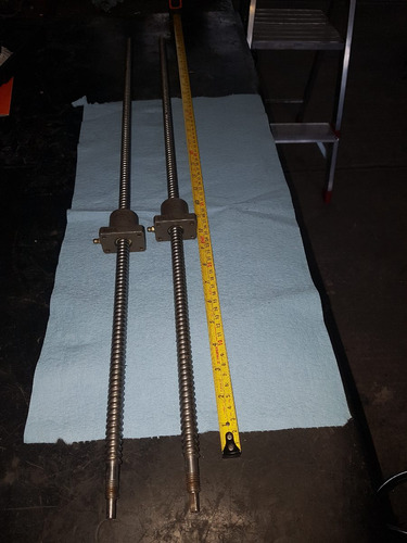 husillo cnc con 1 balero 75 cm x 13 mm power industrial