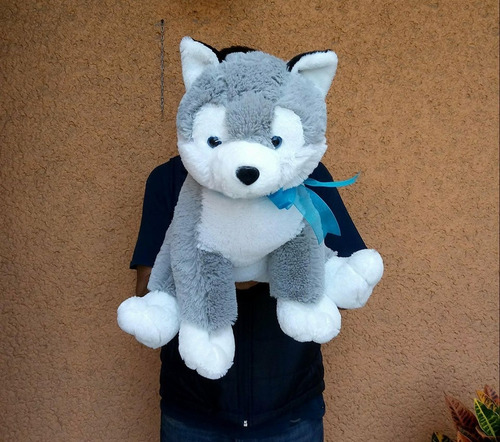 husky de peluche suave mide 40 cm de alto