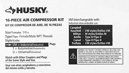 husky  juego de accesorios para compresor de aire 16 piezas