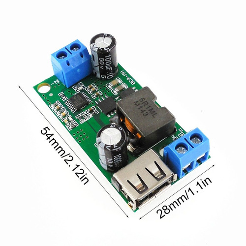 hw-638 5v voltaje estabilizador 9v / 12v / 24v / 36v a 5v pa