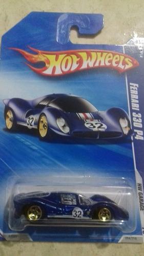 hw ferrari 330 p4 azul tarjeta larga hw garage
