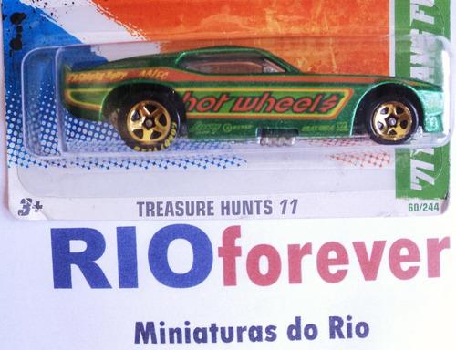 hw t hunt 2011- `71 mustang funny car não super t-hunt