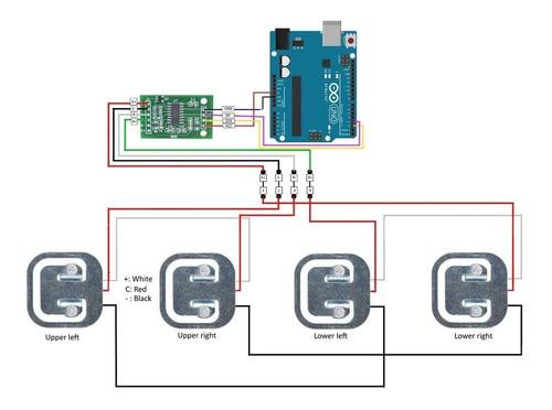hx711 24bits p/ célula de carga peso balança sensor arduino