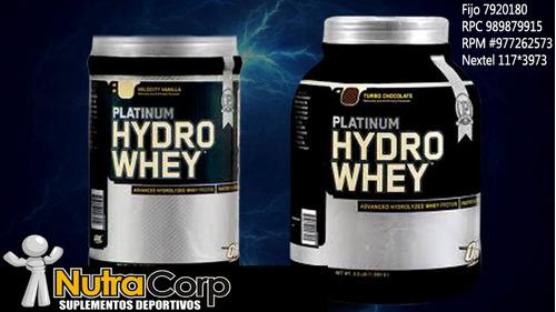 hydro whey platinun  3.5 lbs ganadores de masa muscular.
