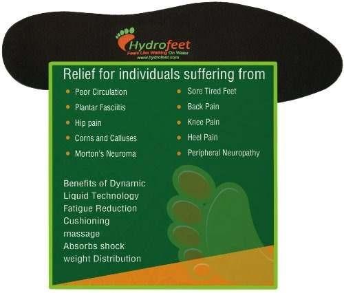 hydrofeet dynamic liquid masaje plantillas ortopédicas inser