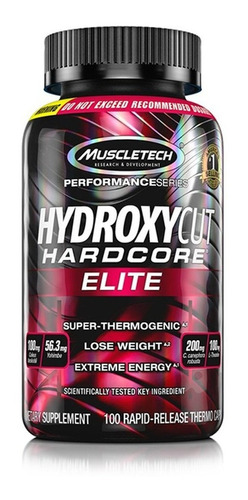 hydroxycut hardcore elite 100 capsulas mt