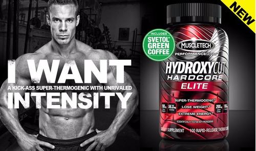 hydroxycut hardcore elite 110 cap muscletech quemador grasa