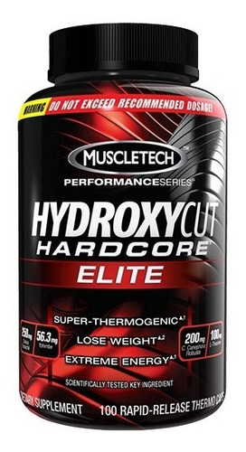 hydroxycut hardcore elite quemador de grasa unisex
